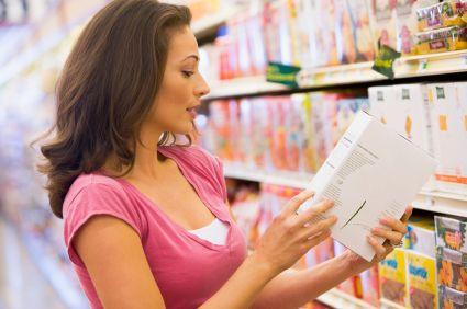 Le etichette alimentari dei prodotti in vendita